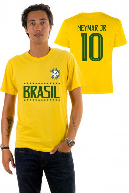 T-shirt World Cup 2018 - Brazil, Neymar 10