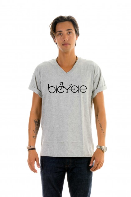 T-shirt v-neck Bicycle