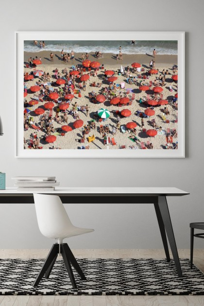 Poster with frame Copa Cabana Beach - Rio - Brazil By Emmanuel Catteau