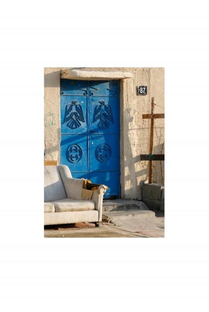 Poster Satwa Blue door - Dubaï - By Emmanuel Catteau
