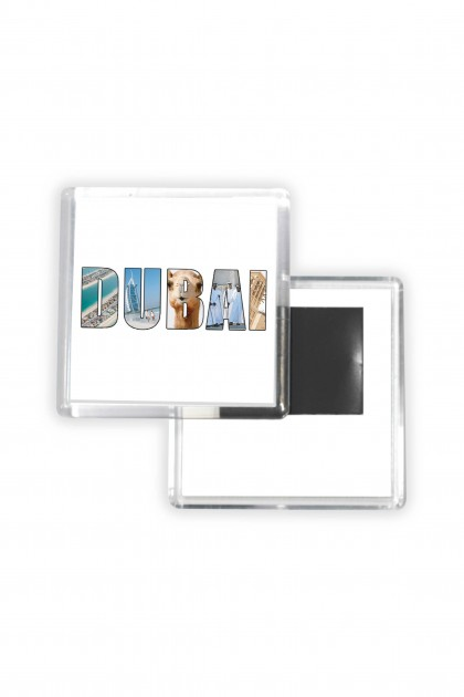 Set of 8 square magnets Dubaï Illustration