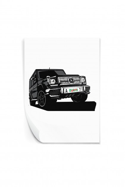 Reusable sticker Mercedes G Class Dubaï