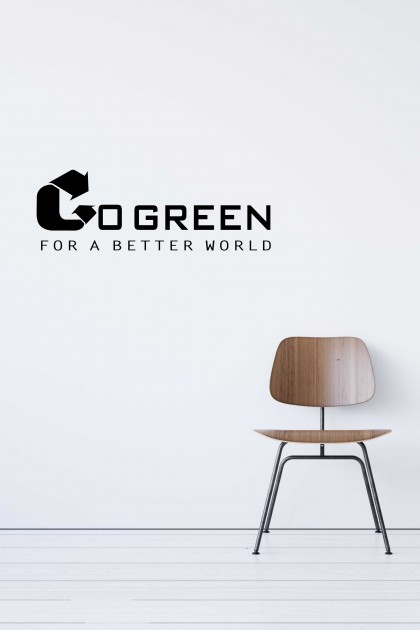 Vinyl wall sticker Go Green