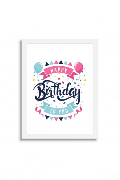 Poster with frame Happy Birthday to You
