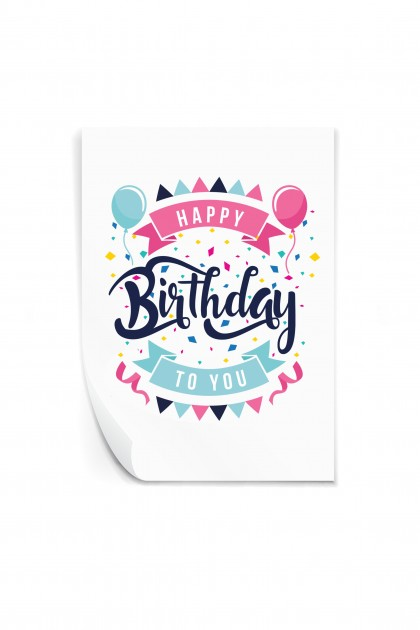 Reusable sticker Happy Birthday to You