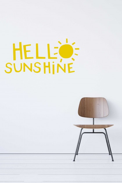 Vinyl wall sticker Hello sunshine