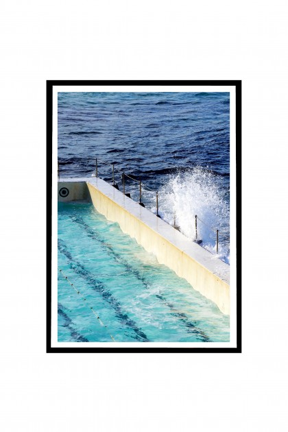 Poster with frame Icebergs Pool at Bondi Beach - Australia By Emmanuel Catteau