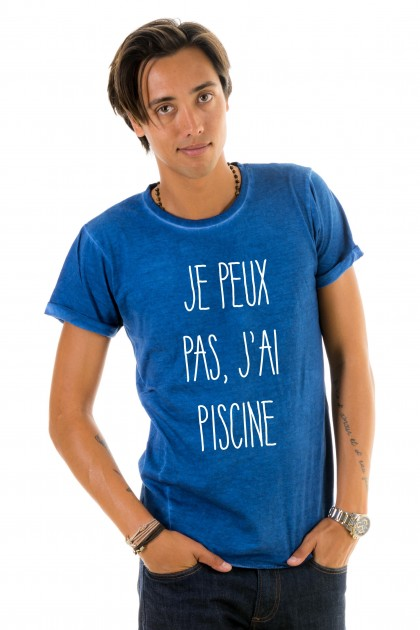 T-shirt Je peux pas, j'ai piscine