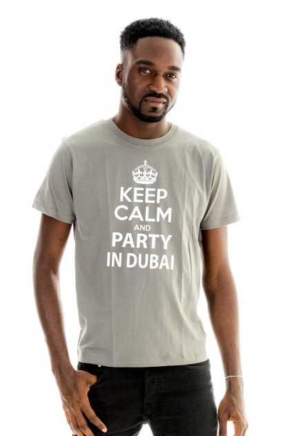 T-shirt Keep calm and party in Dubaï