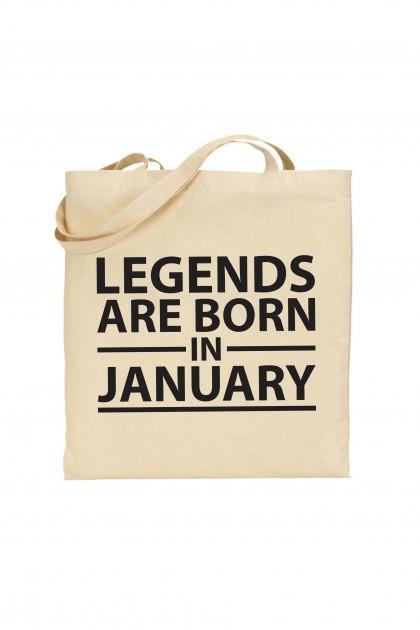 Tote bag Legends Are Born