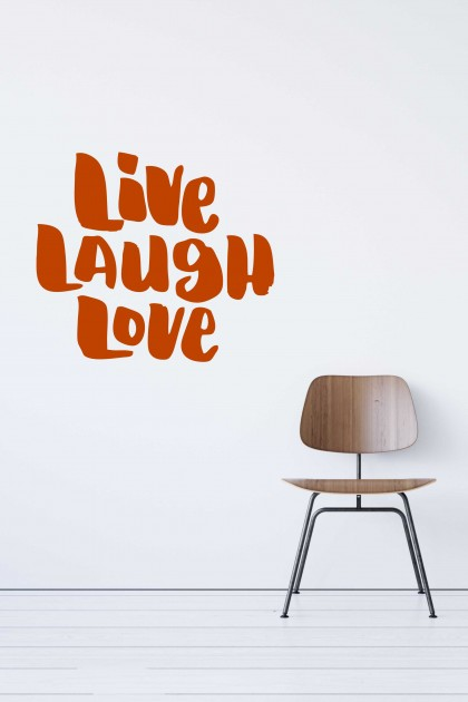 Vinyl wall sticker Live Laugh Love