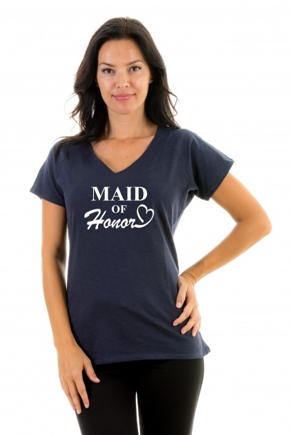 T-shirt v-neck Maid of honor