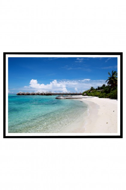 Poster with frame Maldives By Emmanuel Catteau