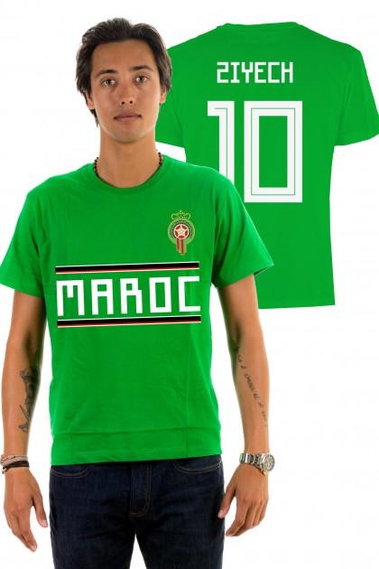 T-shirt World Cup 2018 - Maroc, Ziyech 10