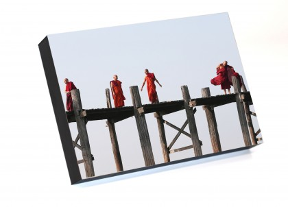 Frame to go Monks in Mandalay Bridge - Myanmar By Emmanuel Catteau