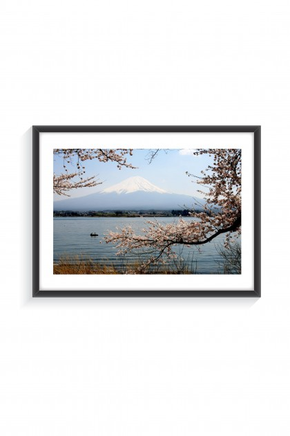 Poster with frame Mount Fuji - Japan By Emmanuel Catteau
