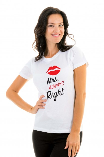T-shirt Mrs Always Right