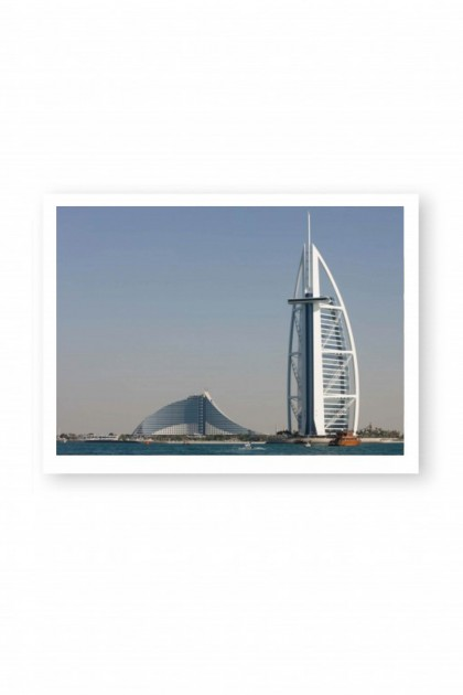 Poster Back of Burj Al Arab By Emmanuel Catteau