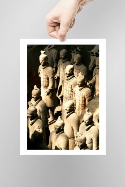 Poster Teracotta Army - Xian - China By Emmanuel Catteau