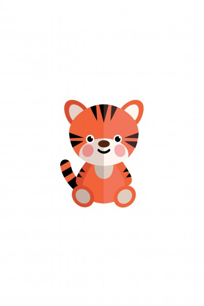 Poster Baby Tiger