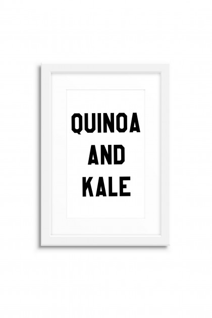 Poster with frame Quinoa and Kale