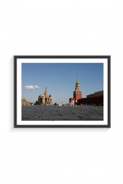 Poster with frame Red Square - Moscow - Russia - By Emmanuel Catteau