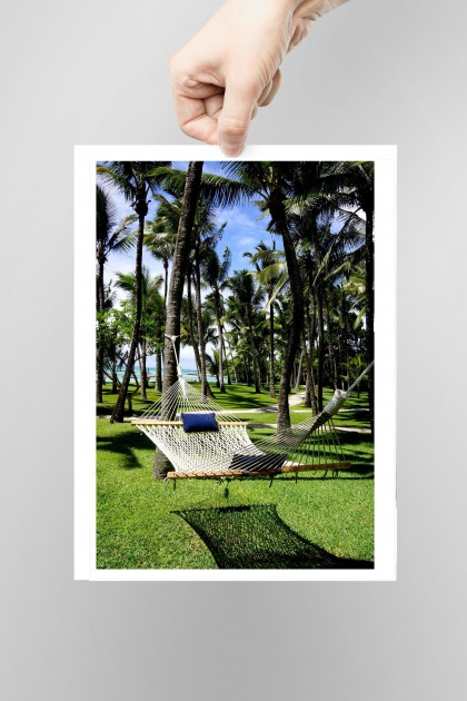 Poster Relax in Mauritius By Emmanuel Catteau
