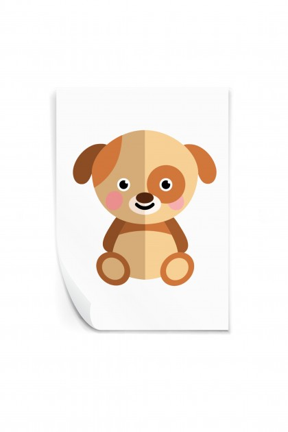 Reusable sticker Doggy