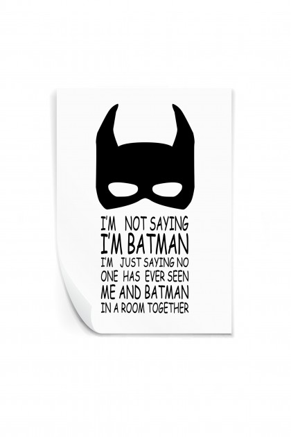Reusable sticker I'm Batman