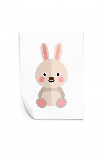 Reusable sticker Rabbit