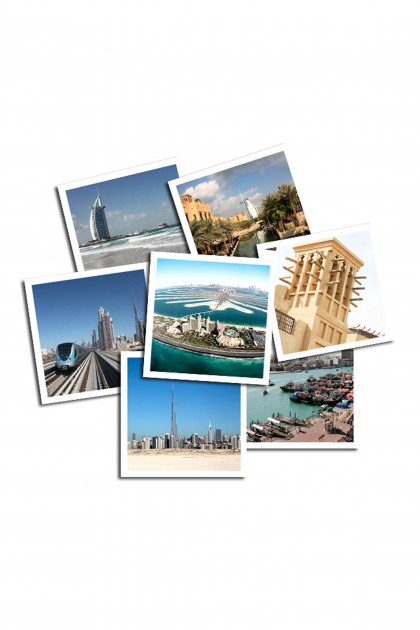 Set of 12 square pictures Dubaï by Emmanuel Catteau
