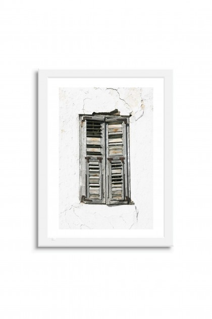 Poster with frame Shutter - Greece By Emmanuel Catteau