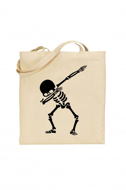 Tote bag Skeleton Dab