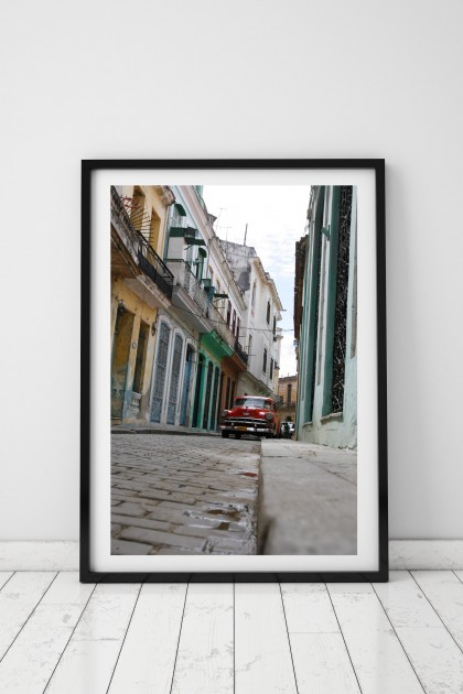 Poster with frame Street of Havana - Cuba - By Emmanuel Catteau