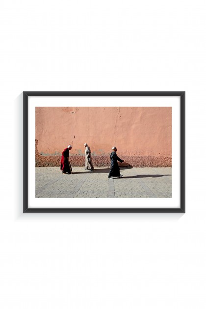 Poster with frame Streets Of Marrakech - Morrocco  By Emmanuel Catteau