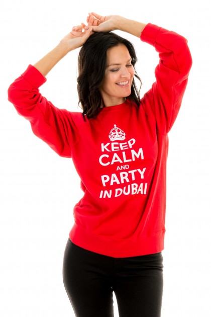 Sweatshirt Keep calm and party in Dubaï