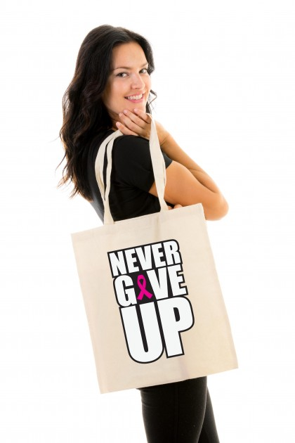 Tote bag Never Give Up