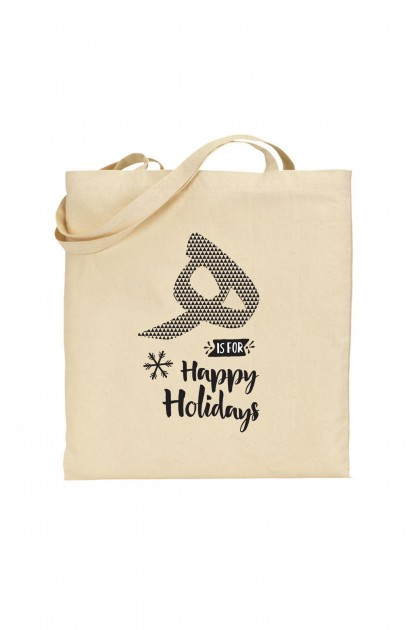 Tote bag The Little Bulbul - Happy Holidays