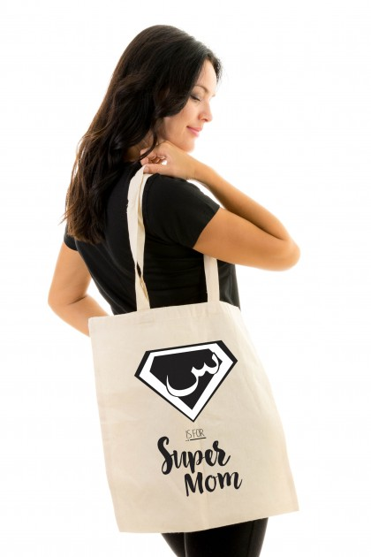 Tote bag The Little Bulbul - Super Mom