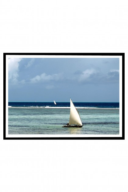 Poster with frame Traditional Dhows - Zanzibar By Emmanuel Catteau