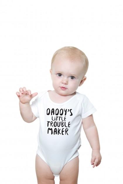 Baby romper Daddy's Little Trouble Maker
