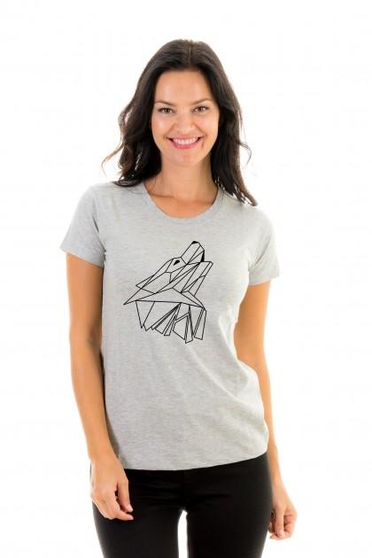 T-shirt Geometric Wolf