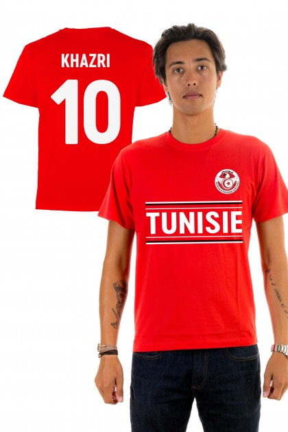 T-shirt World Cup 2018 - Tunisie, Khazri 10