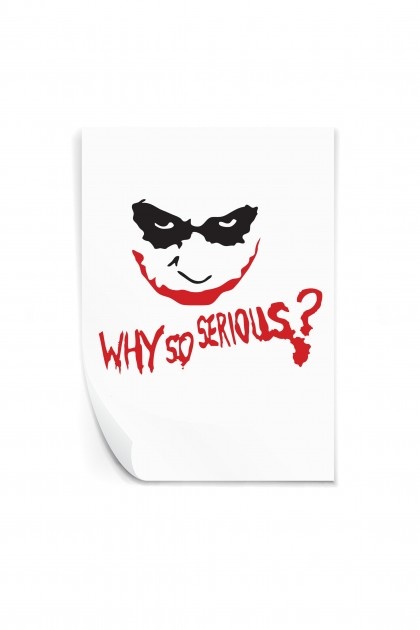 Reusable sticker Why So Serious?