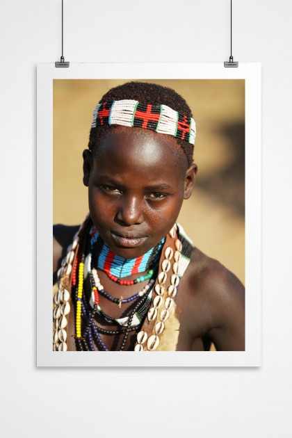 Poster Young Ethiopian Girl By Emmanuel Catteau