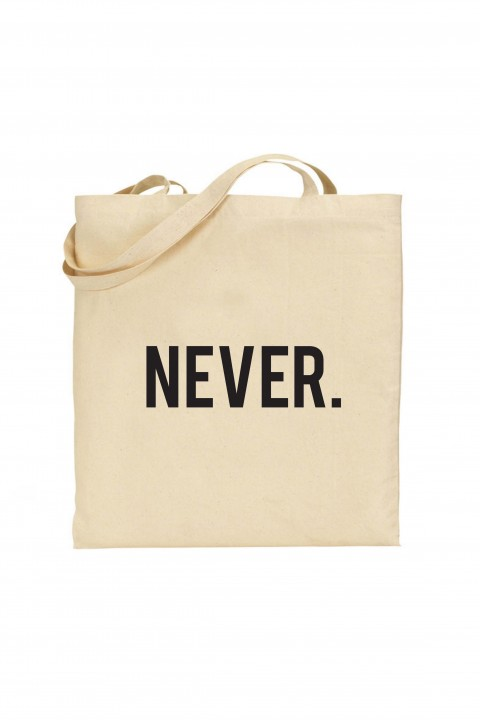 Tote bag NEVER.