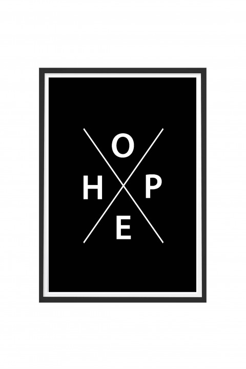 Poster with frame HOPE