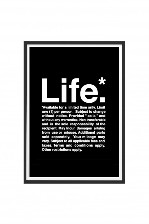 Poster with frame LIFE