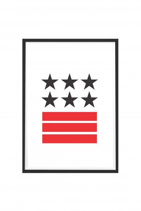 Poster with frame Stars and Stripes