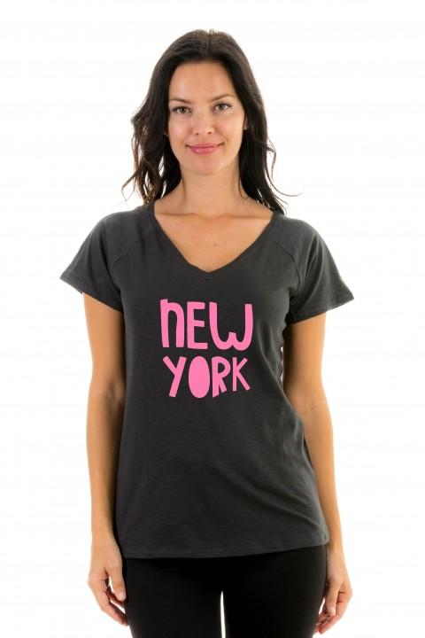 T-shirt v-neck New York